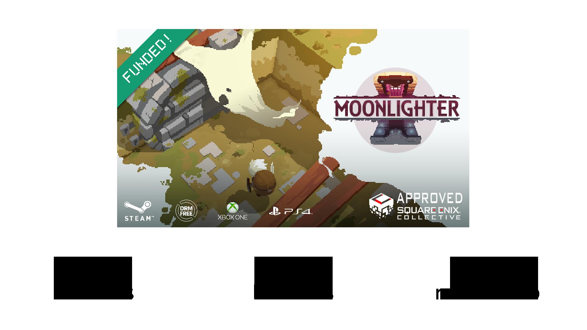 Moonlighter proyecto kickstarter espana SYBIC crowdfunding